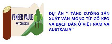 """Dự án """" Tăng cường sản xuất ván mỏng từ gỗ keo và bạch đàn ở Việt Nam và Australia"""""""